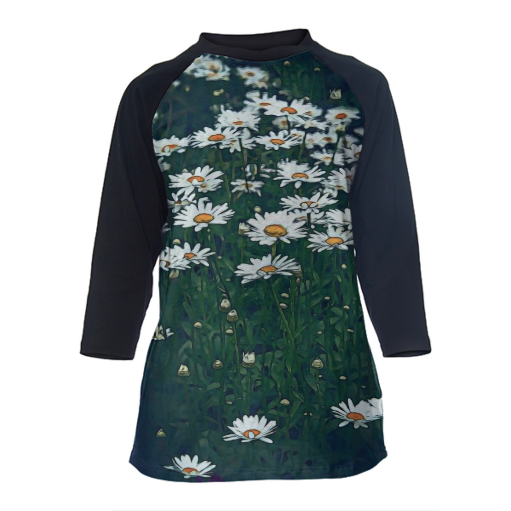 Field Of Daisies Baseball Shirt