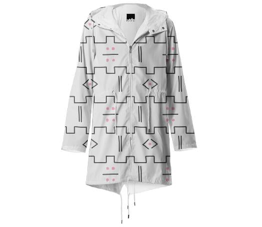 Mod Mudcloth Raincoat White MP