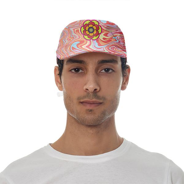 PAOM, Print All Over Me, digital print, design, fashion, style, collaboration, paomcollabs, Baseball Hat, Baseball-Hat, BaseballHat, Marble, Flower, spring summer, unisex, Poly, Accessories