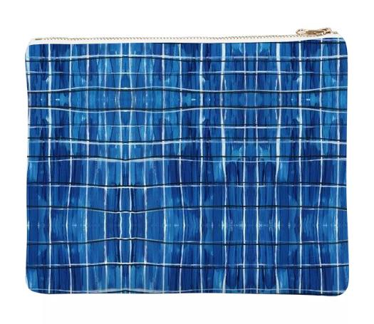 Blue Plaid Clutch by Amanda Laurel Atkins