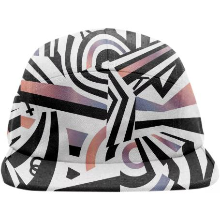 PAOM, Print All Over Me, digital print, design, fashion, style, collaboration, zebrakatz, Baseball Hat, Baseball-Hat, BaseballHat, Dazzle, spring summer, unisex, Poly, Accessories