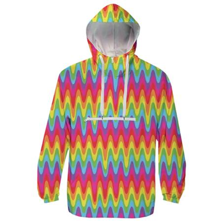 PAOM, Print All Over Me, digital print, design, fashion, style, collaboration, paomcollabs, Windbreaker, Windbreaker, Windbreaker, Drippy, Rainbow, spring summer, unisex, Poly, Outerwear