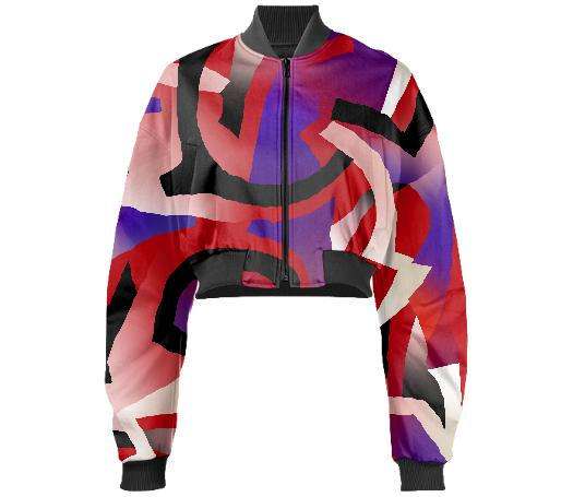 PAOM, Print All Over Me, digital print, design, fashion, style, collaboration, gambette, Gabriel Held Cropped Bomber Jacket, Gabriel-Held-Cropped-Bomber-Jacket, GabrielHeldCroppedBomberJacket, Solar, Neoprene, autumn winter, unisex, Neoprene, Outerwear