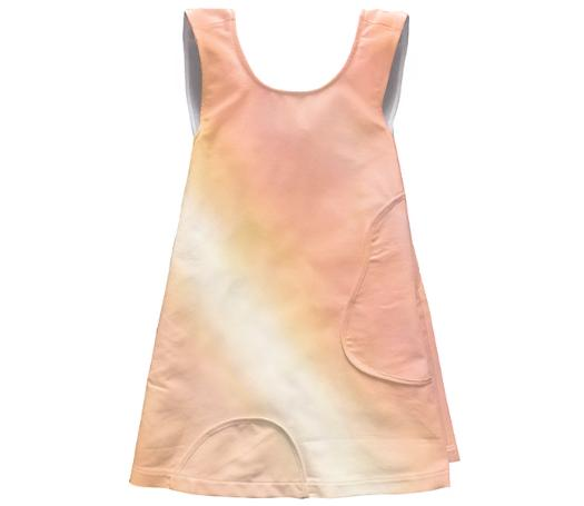 Peach Sunset Apron Dress