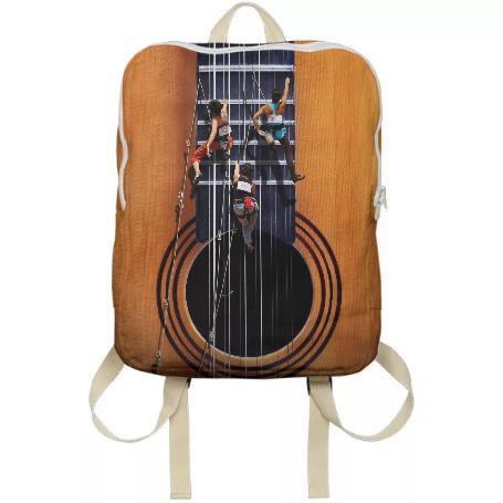 Surreal Guitar Climbers Backpack