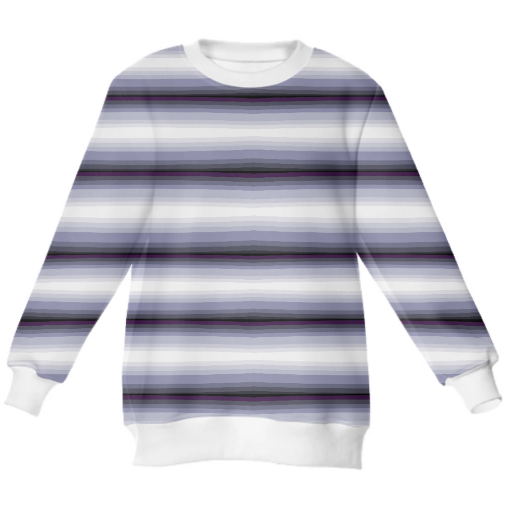 Blue PIn Strip Neoprene Sweater