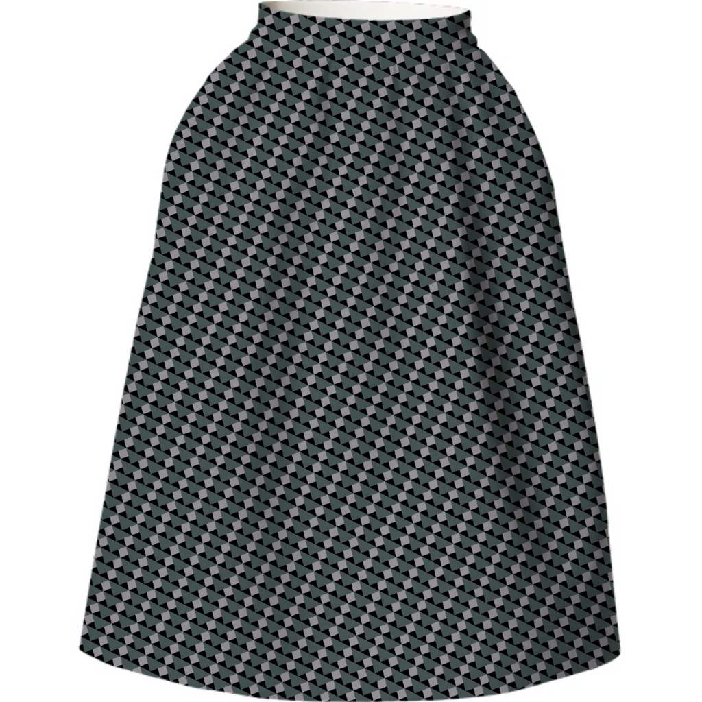 Dark Geo-metro Neoprene Skirt