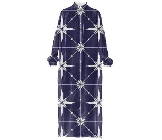 Starry Night VP Silk Shirt Dress MP