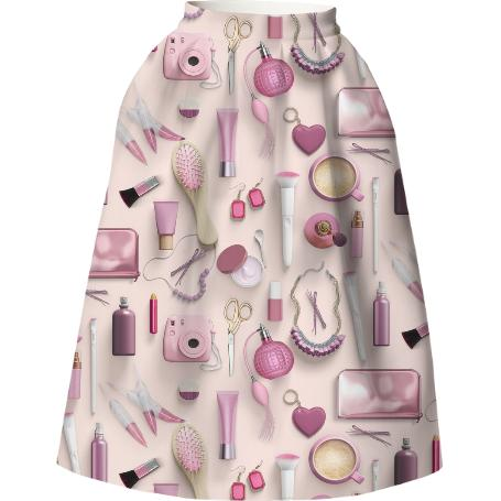 Pink Vanity Table Neoprene Full Skirt