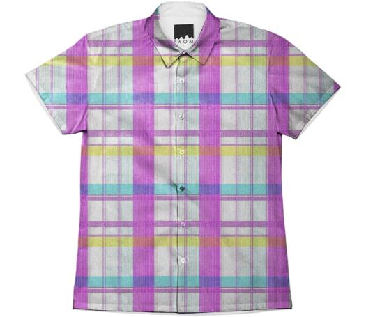Glitch Plaid Work Shirt