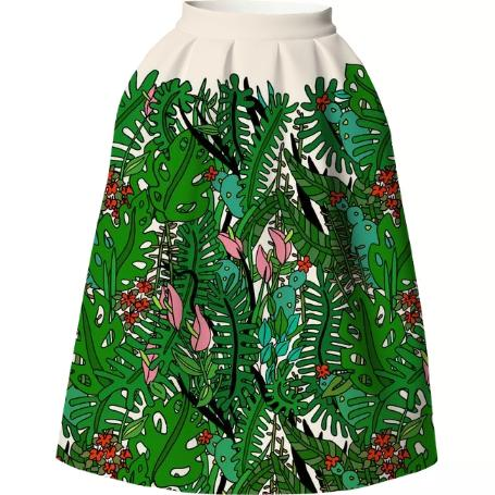 Tropical Neoprene Skirt