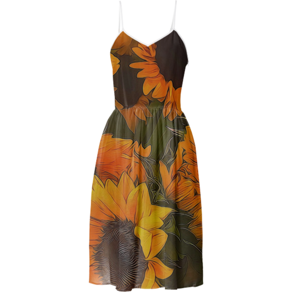 Sunflowers Summer Dress