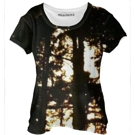 Trees at Dusk Drape Shirt