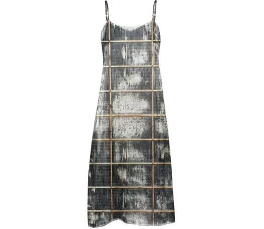 GRZL SLIP DRESS in PLATE