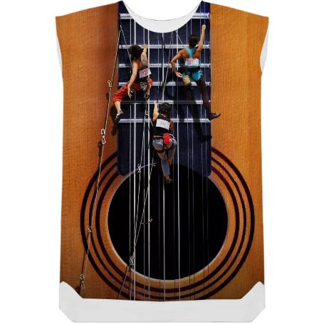 Surreal Guitar Climbers Shift Dress