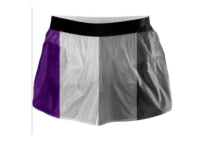 Asexual Flag Running Shorts