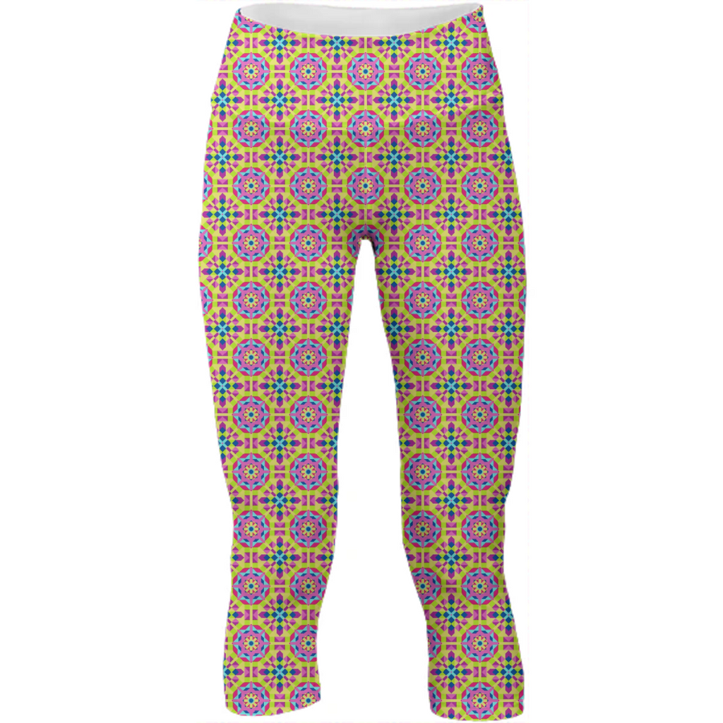 Neon Pattern Yoga Pants #3
