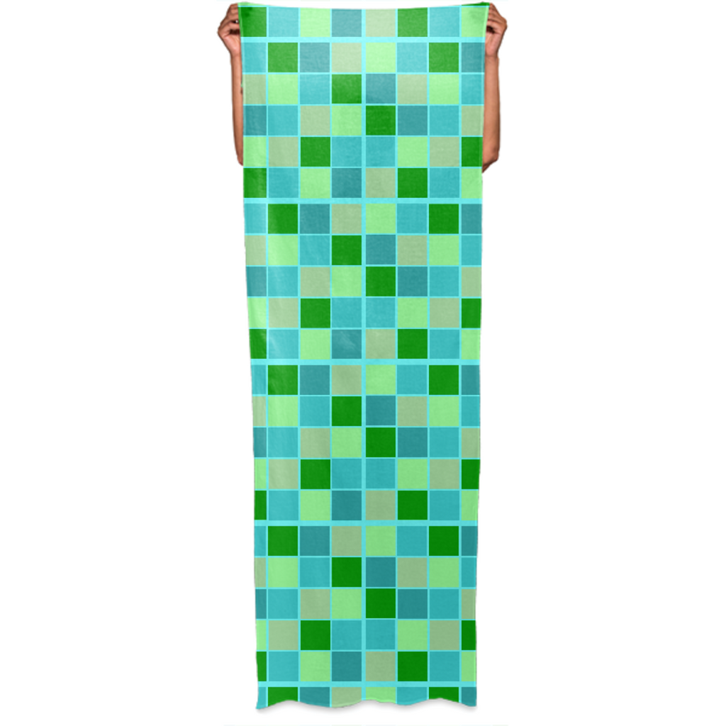 Beachy Green and Blue Checkers