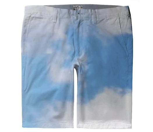 Sky Blue And White Shorts