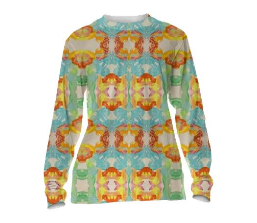 Handmade Pop Print Long Sleeve