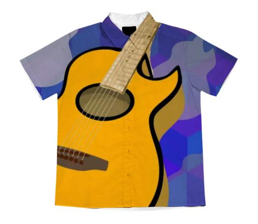 Guitar Short Sleeve Blouse