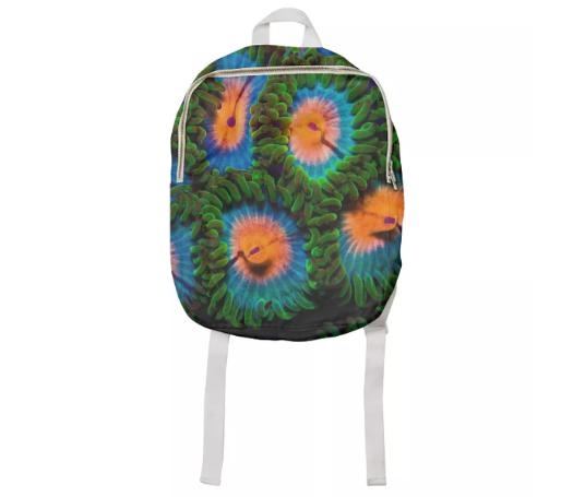 PAOM, Print All Over Me, digital print, design, fashion, style, collaboration, coral-morphologic, coral morphologic, Kids Backpack, Kids-Backpack, KidsBackpack, Zoa, autumn winter spring summer, unisex, Cotton, Kids