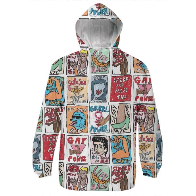 PAOM, Print All Over Me, digital print, design, fashion, style, collaboration, wackywacko, Windbreaker, Windbreaker, Windbreaker, Somethin, SAY, spring summer, unisex, Poly, Outerwear