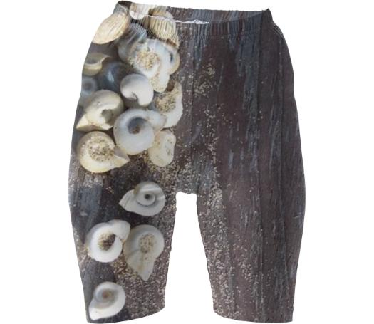 Beach Themed Bike Shorts