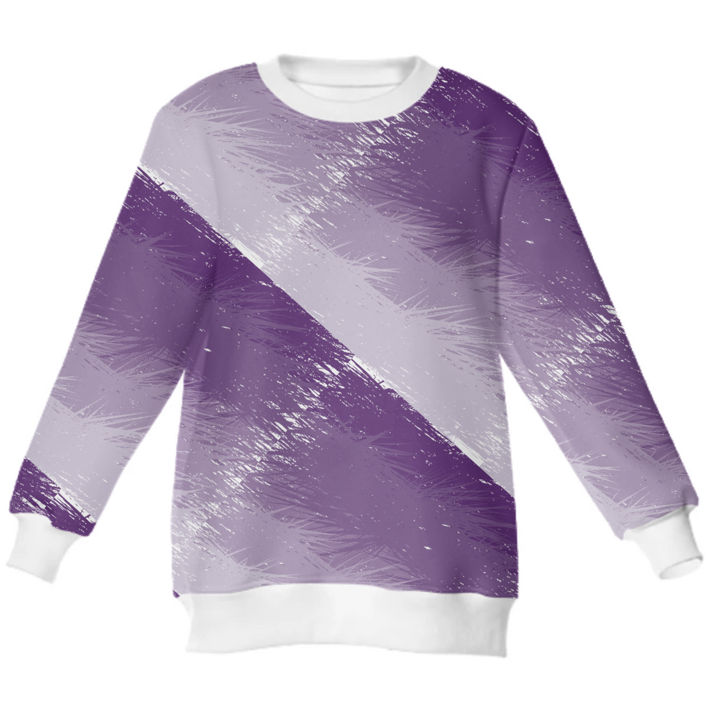 Plum Feathered Neoprene Sweatshirt