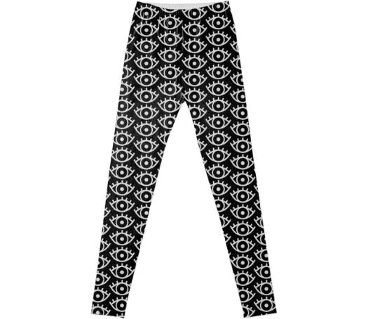 Black White Eyes Leggings