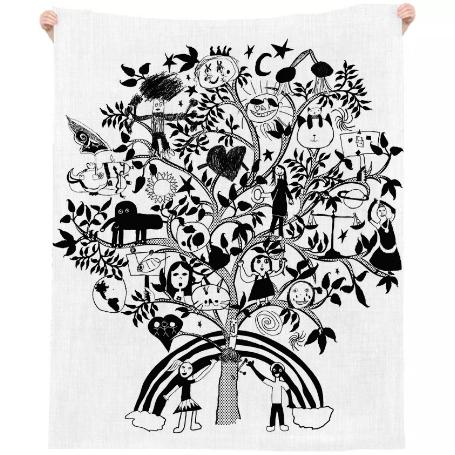 Tree of Life beach linen white
