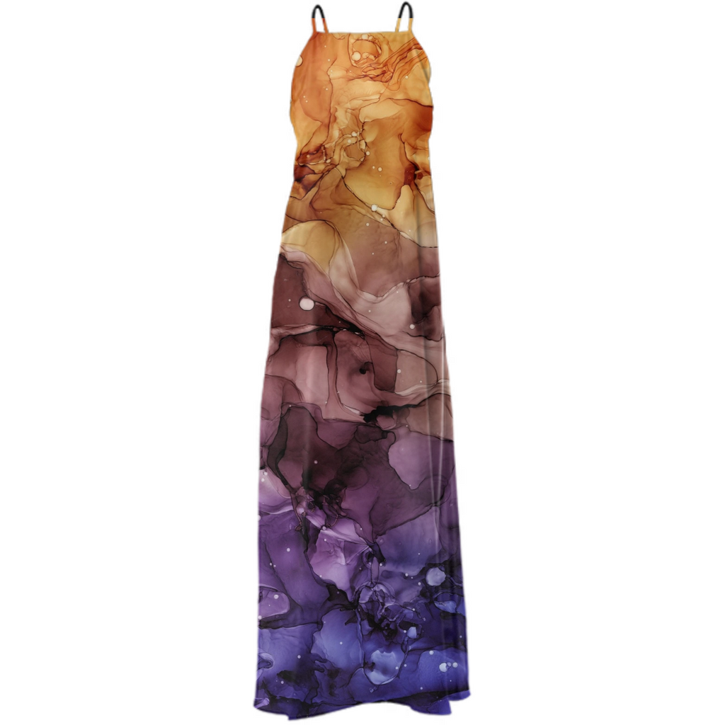 Alcohol Ink Abstract Art #1 Maxi Dress
