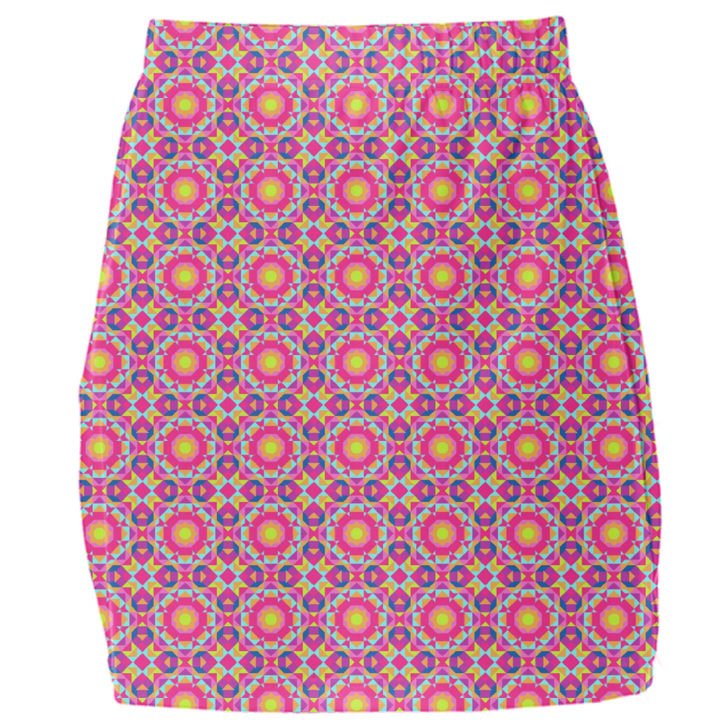 Neon Pattern Mini Tube Skirt #1