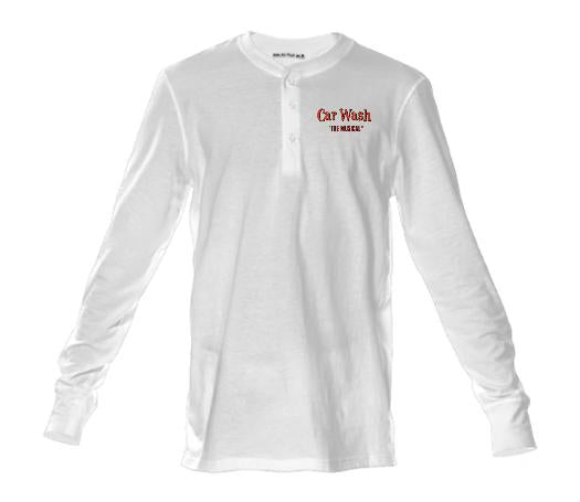 Red Letter White Classic crew neck henley shirt
