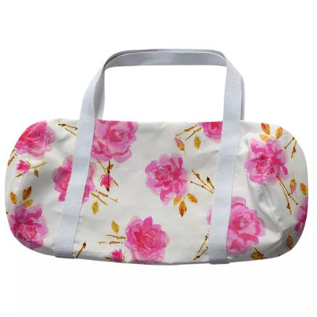 Rose Branch Print Duffle
