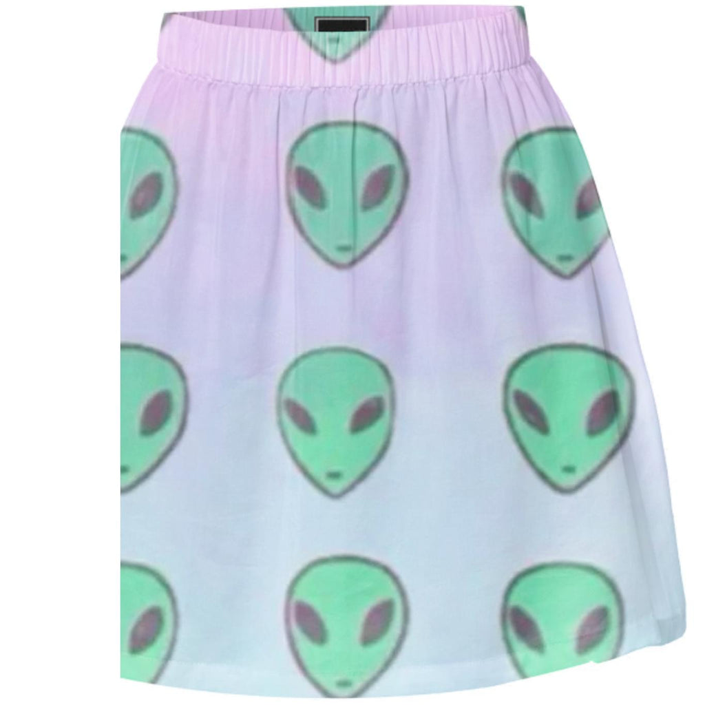 Pastel Alien Summer Skirt