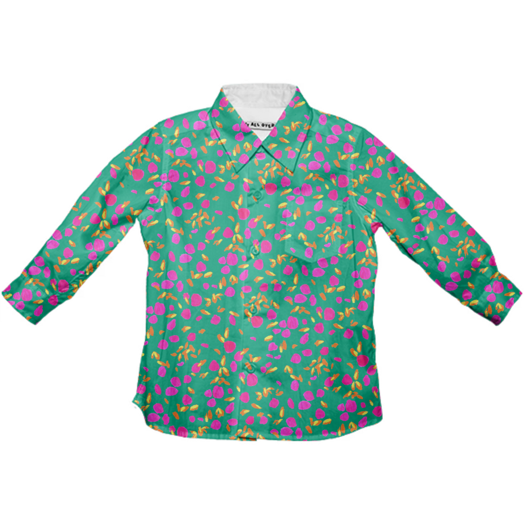 Floral Confetti Kids Button Up
