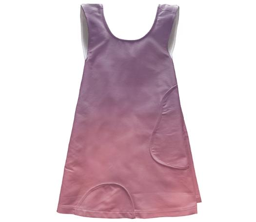 Purple And Pink Apron Styled Dress