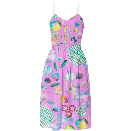 Bubblegum Garden Sun Dress