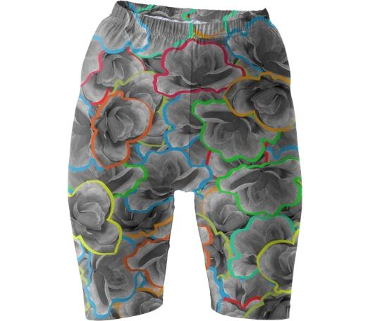 NEON FLORALS BIKE SHORTS