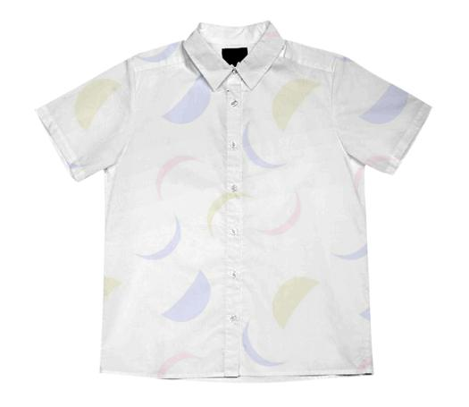 Fading Moons Short Sleeved Blouse