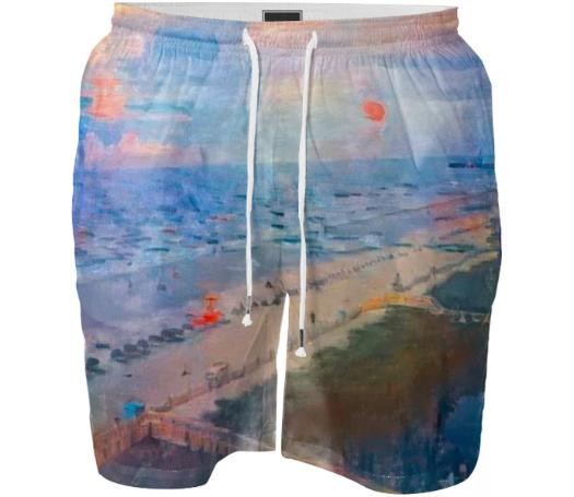 Beach Painting Men s Swim Shorts