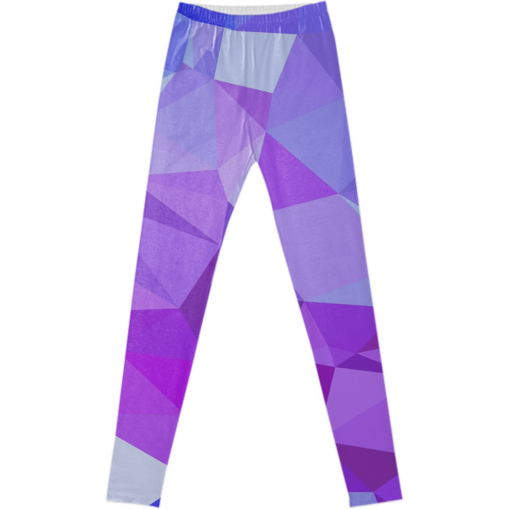 polygonal purple and blue