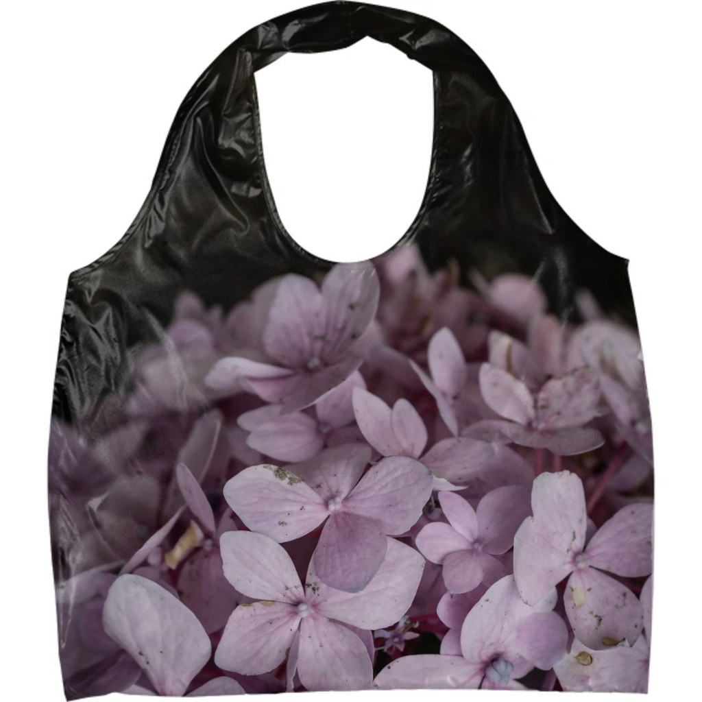 Pink Speckled Hydrangea Eco Tote