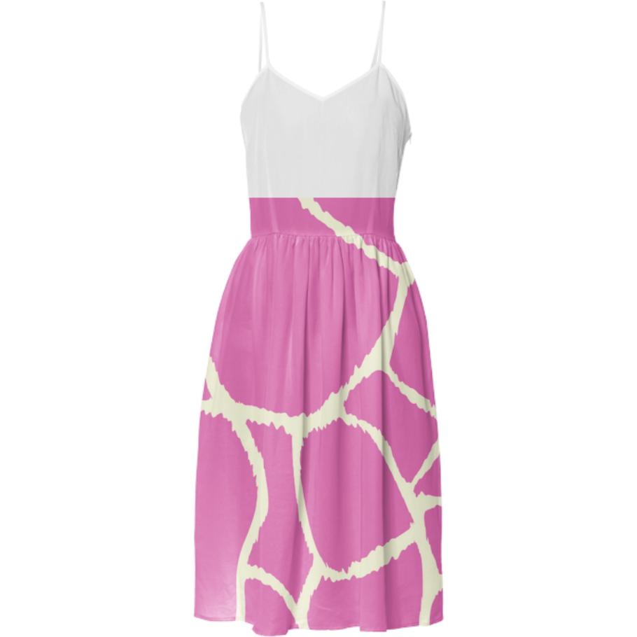 Designers luxury Dress pink zebra