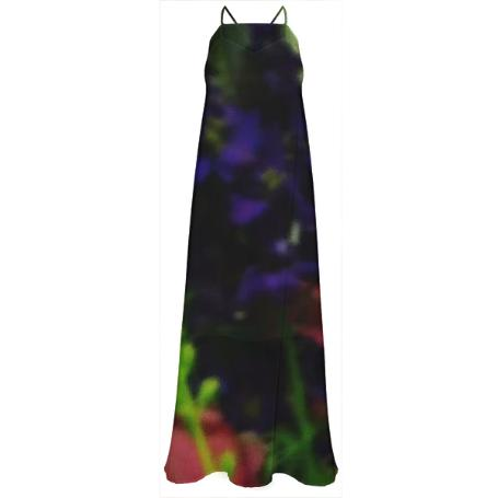 Abstract Bouquet Maxi Dress