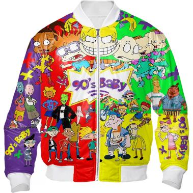 Custom 90 s Baby Cartoon Bomber Jacket