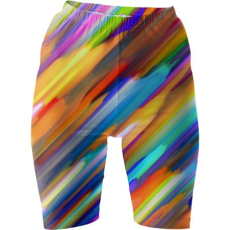 Colorful digital art splashing G391 BIKE SHORTS