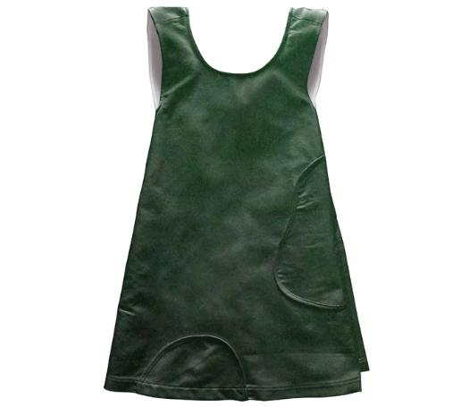 Dark Forest Green Kids Apron Dress