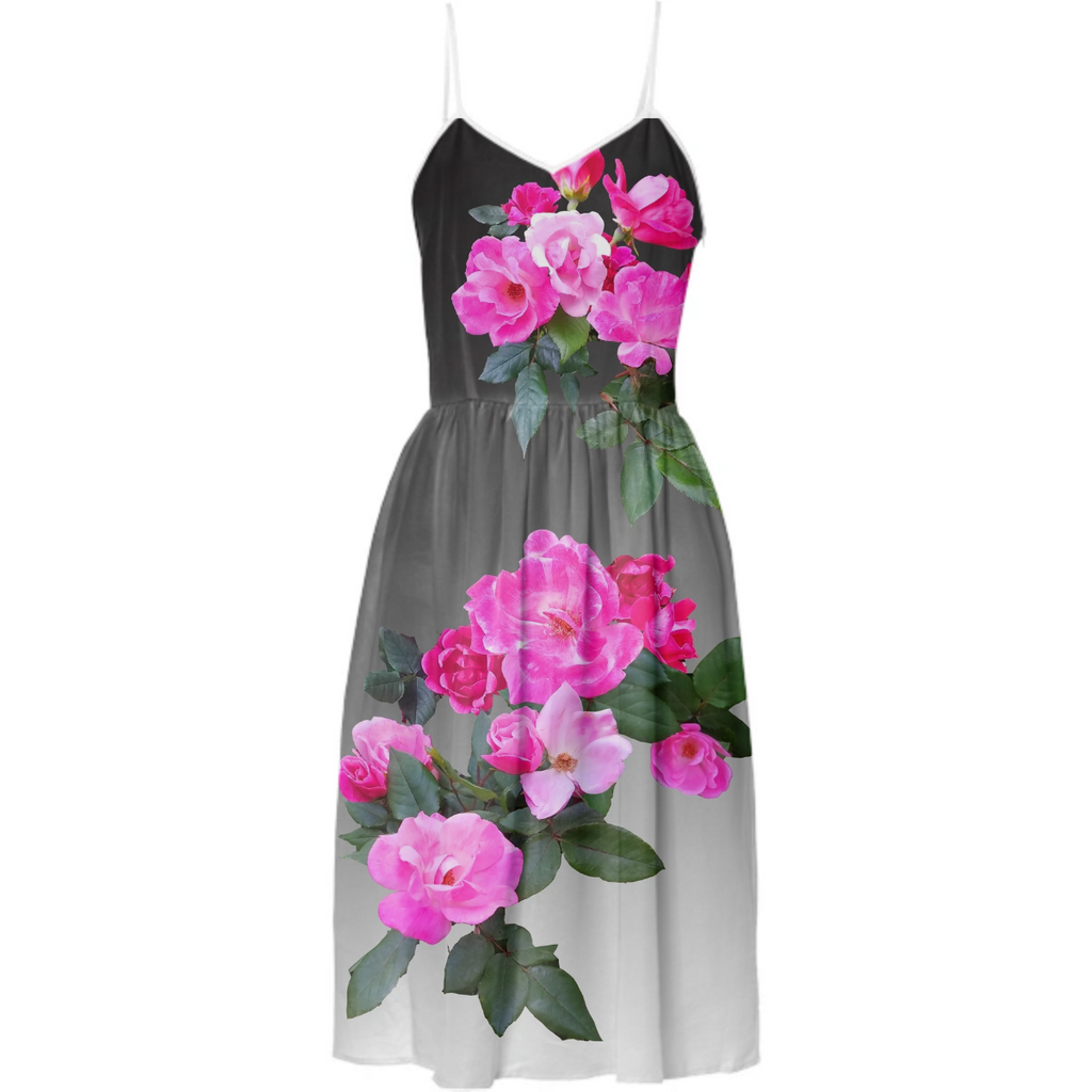 Roses for Days Ombre Tea Dress